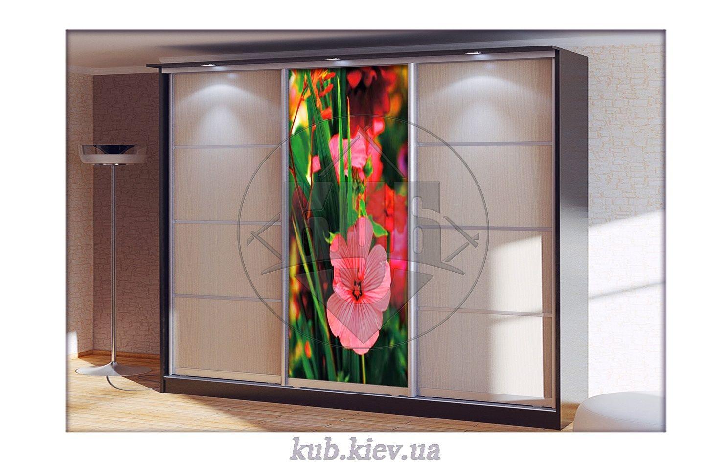 фотопечать для шкафа купе пестрые цветы в саду мебель сич